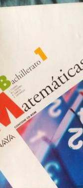 Matemáticas i. bachillerato 1. anaya