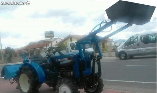 Mini tractor mitsubishi d 1300 con pala