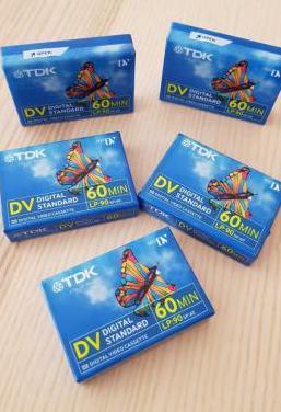 Tdk lote 5 cintas mini dv dvm60 de 60 minutos