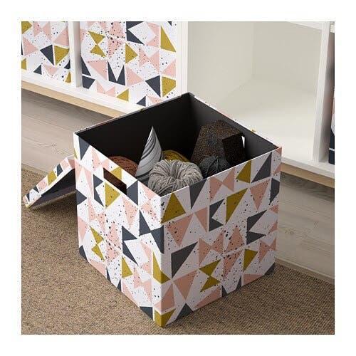 2 cajas almacenaje decorativa ikea