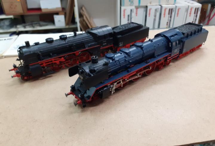2 locos ho marklin 3097 y 33184 digital vapor con humo y