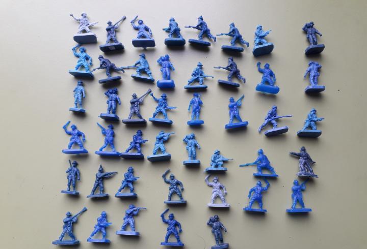 45 australianos montaplex soldados plástico soldaditos
