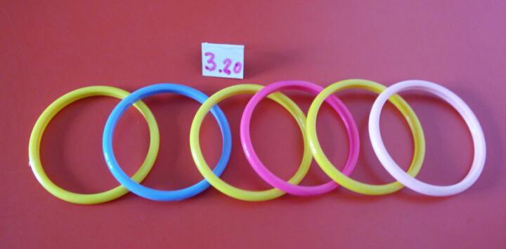 6 pulseras aro esclavas colores (7,5 cm).b.g. bernabéu