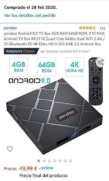 Android 9.0 tv box 4gb ram 64gb rom
