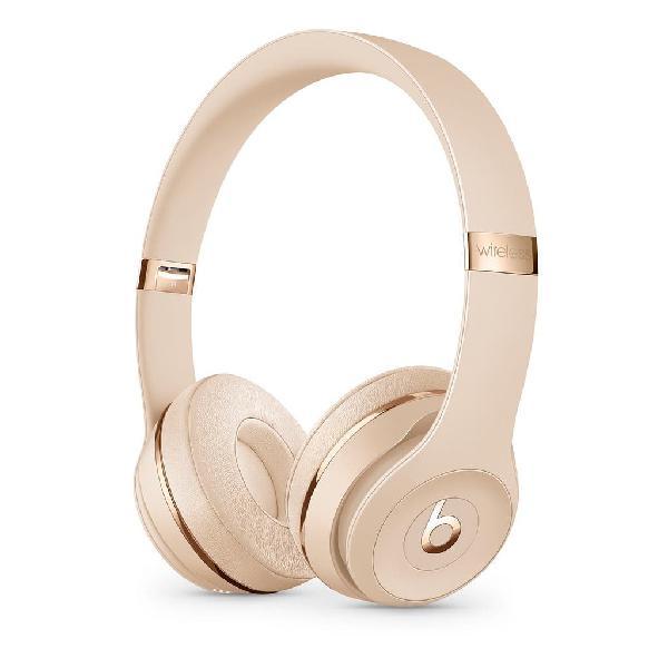 Auriculares beats solo 3 wireless oro nuevos
