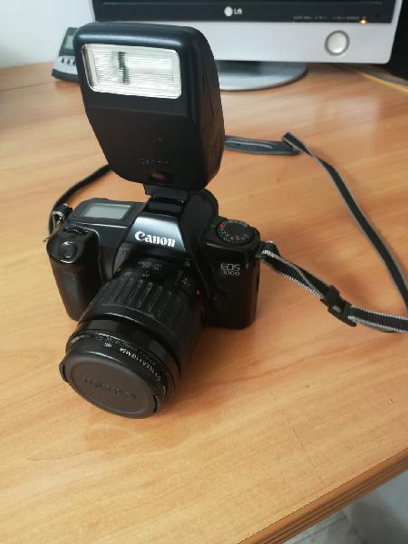Canon eos 1000 + 35/105 + flash 200 (no digital)