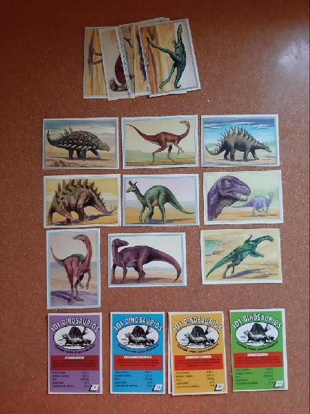 Coleccion de cromos 101 dinosaurios.