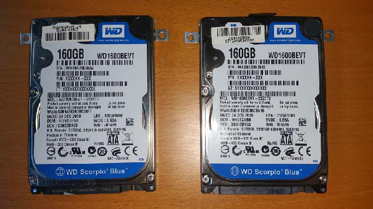 DISCO DURO 160 GB. Serial ATA II, 2.5 pulgadas