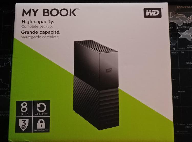 Disco duro western digital my book 8tb