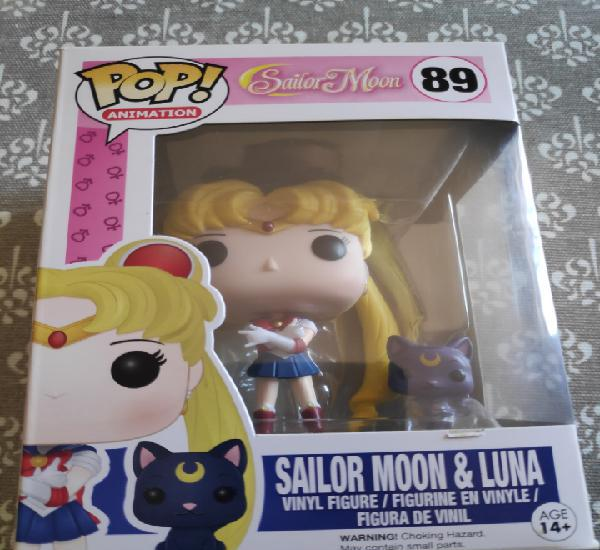 Figura funko pop sailor moon y luna anime nuevo