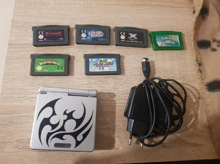 Gameboy advance sp tribal y juegos