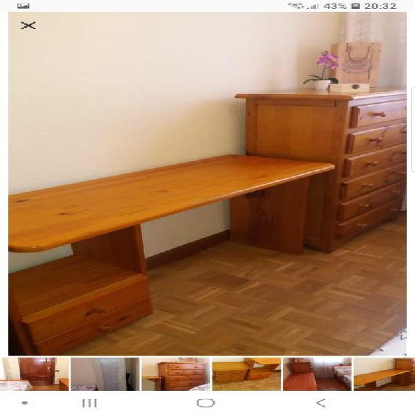 Juego dormitorio pino