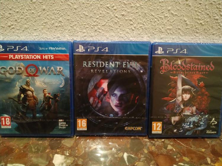 Lote juegos ps4 nuevos