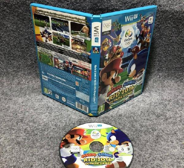 Mario and sonic at the rio 2016 olympic games nintendo wii u