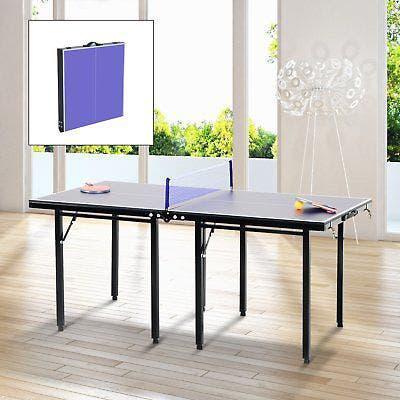 Mesa plegable de ping pong con red valorada en 90€