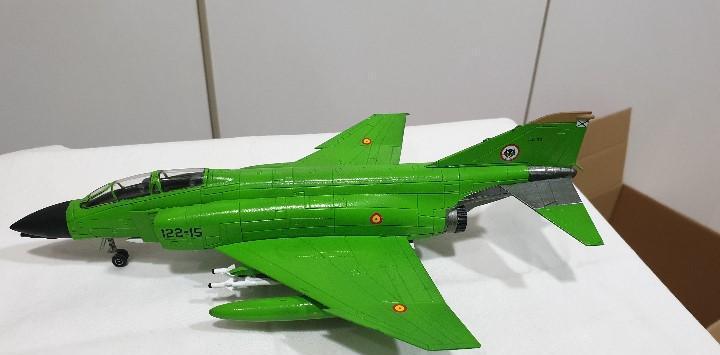 Phantom f-4 pintado de verde avión metal escala 1:72