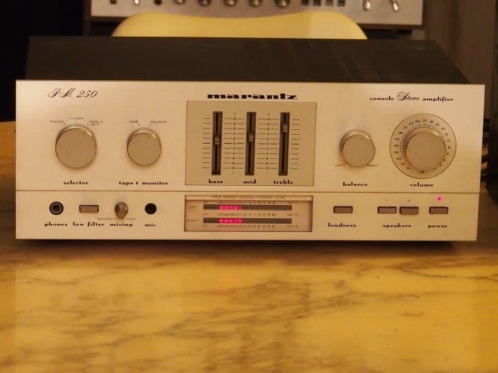 Pm 250 marantz amplificador vintage