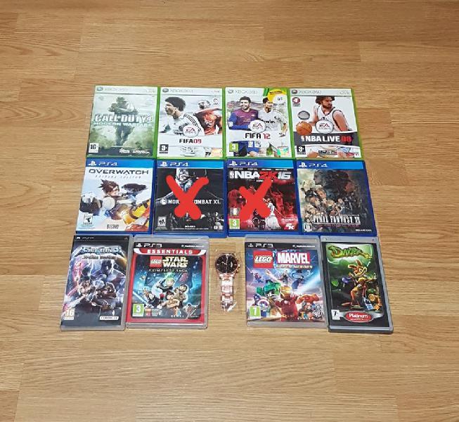 Pack de juegos xbox 360 psp ps3 y ps4