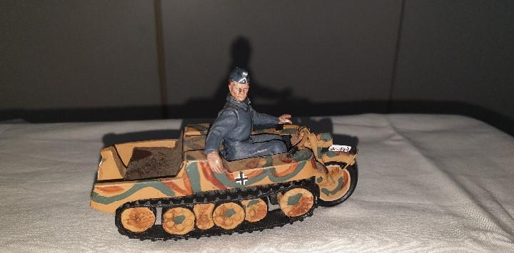 Soldado motorizado aleman figuras plomo