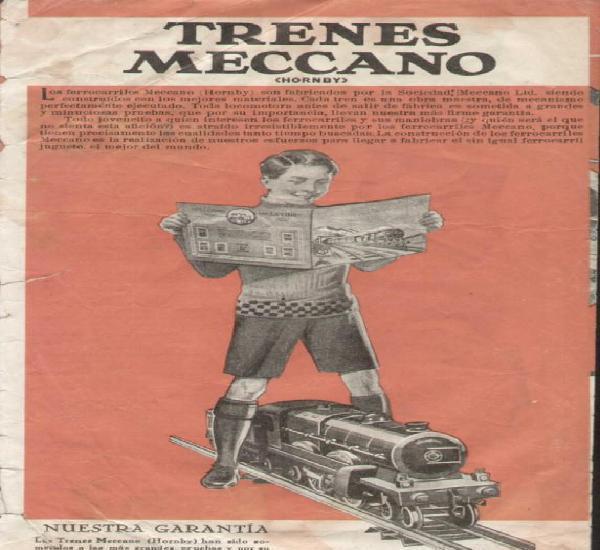 Catàlogo trenes meccano (hornby) 1932 - folder - en