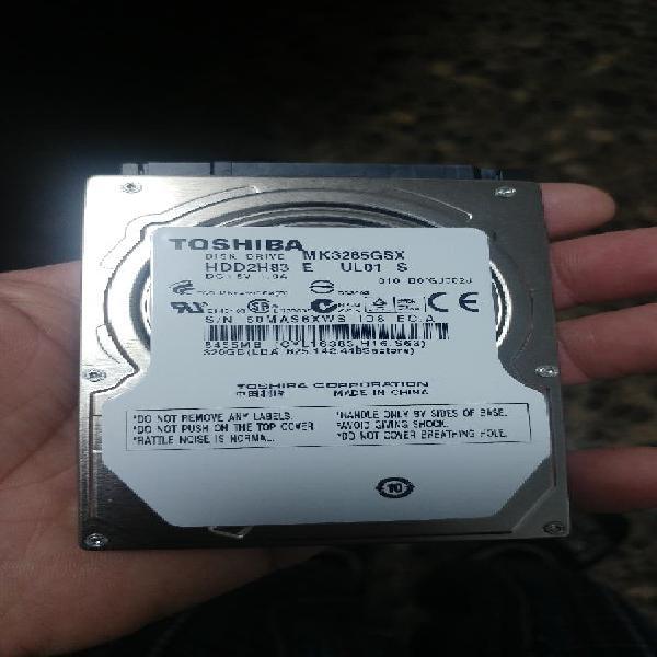 Disco duro portatil de 320gb toshiba