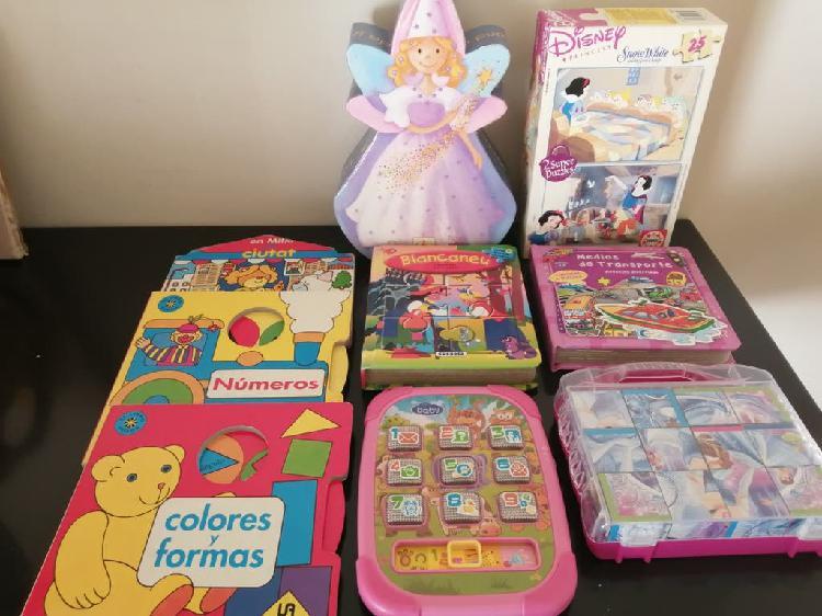 Lote libros y puzzles infantiles