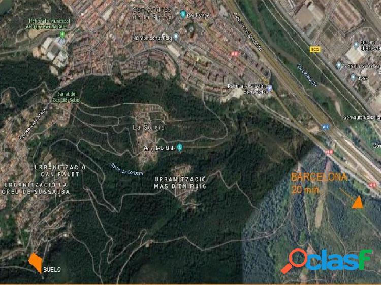 Parcela residencial de 4.600 m2 para inversor a 20 min de Barcelona