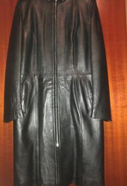Abrigo mujer cuero