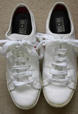 Converse one star 39. piel blanca