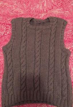 Chaleco de lana gris talla 36