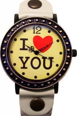 Reloj mujer i love you bronce