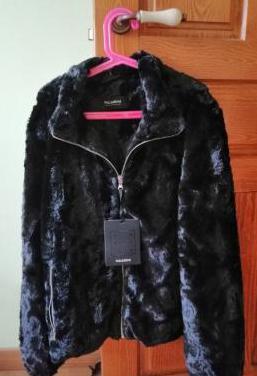 Abrigo chaqueta pelo negra a estrenar
