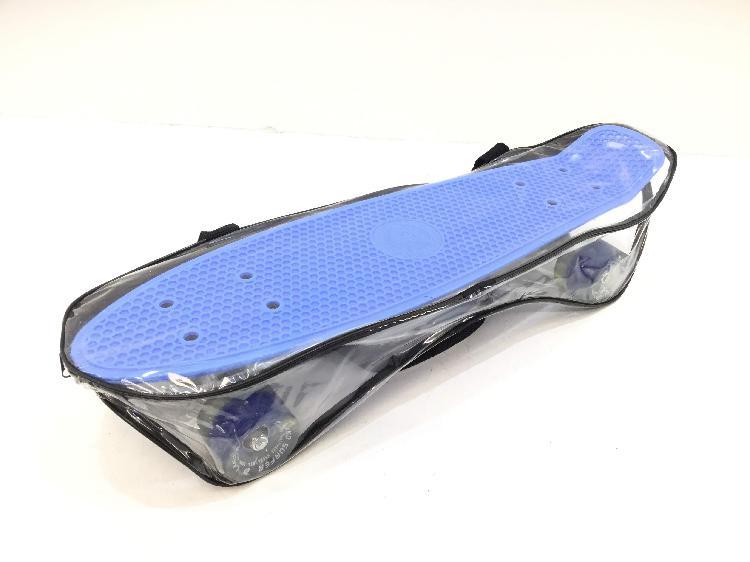 Monopatin land surfer clasico azul con luces