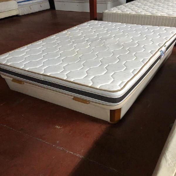 135x190 canapé madera tapizado microfibra beig+col