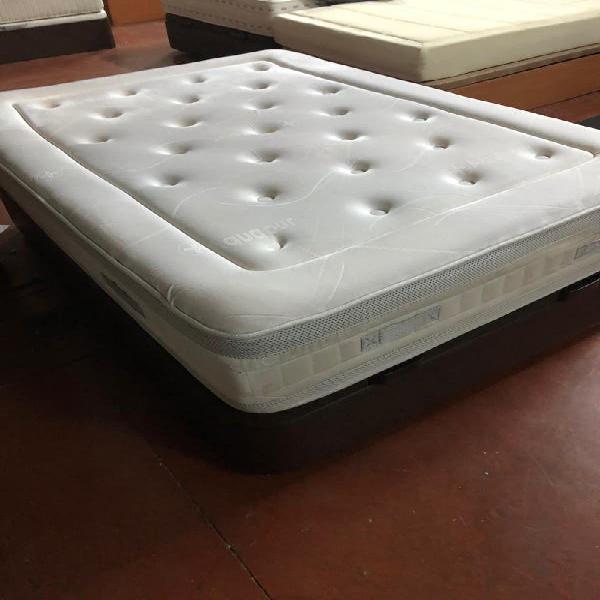 135x190 canapé tapizado polipiel wengue colchón a