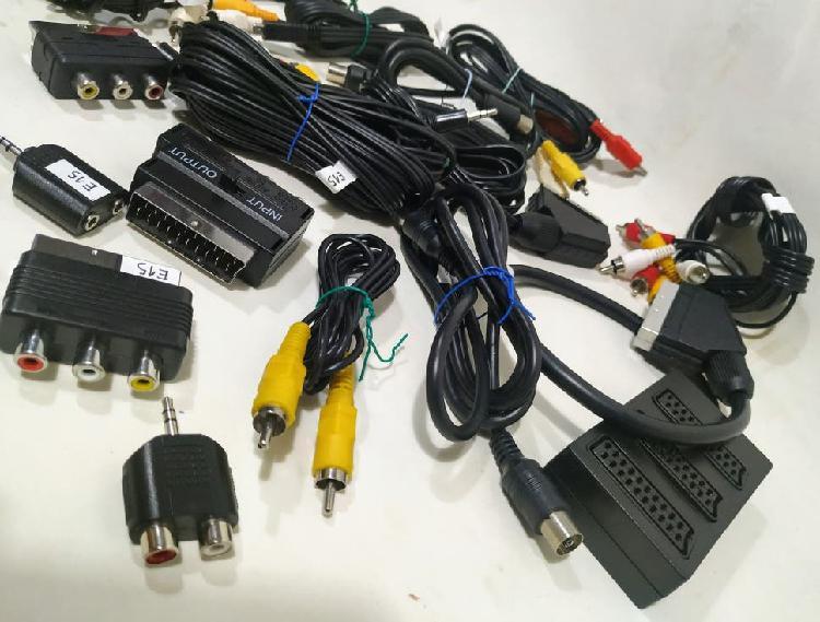 15 cables audio y video 10 eur!