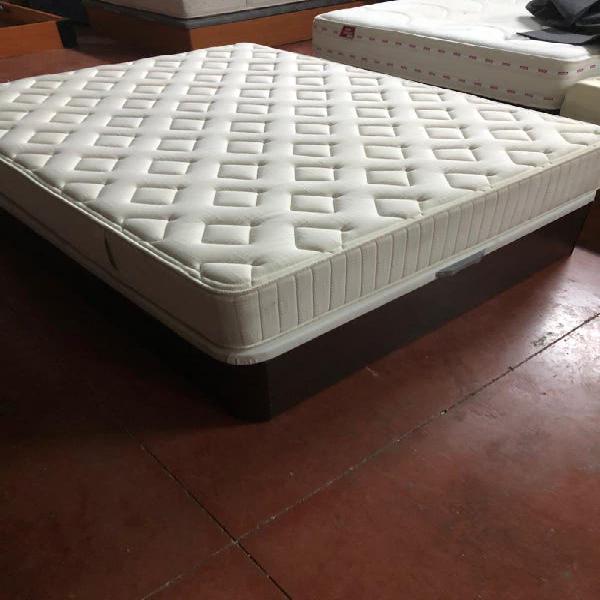 150x190 canapé madera wengue+colchón flex terral