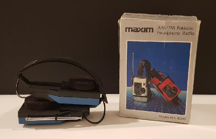 Antiguos auriculares con radio marca maxin mx-800