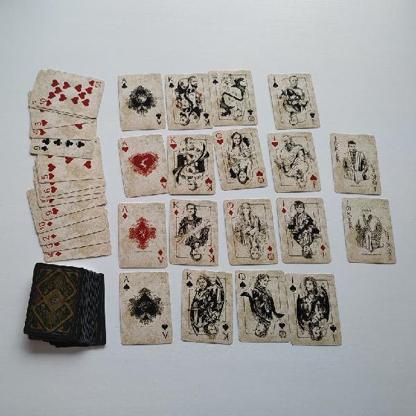 Cartas de poker de juego de tronos