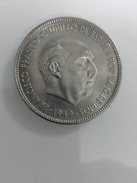 Cinco pesetas 1.949 franco