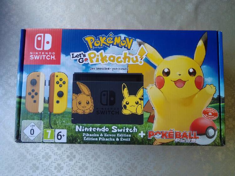 Consola nintendo switch pokemon pikachu