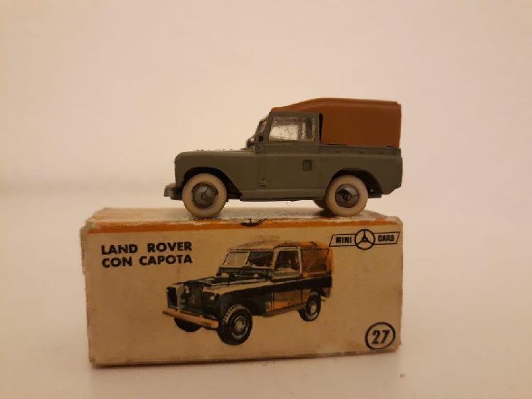 Minicars anguplas land rover con capota con caja.
