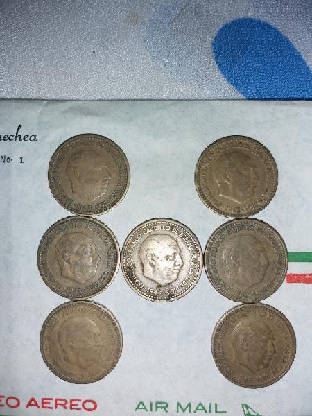 Pesetas de una años 1953, 1963 y 1947