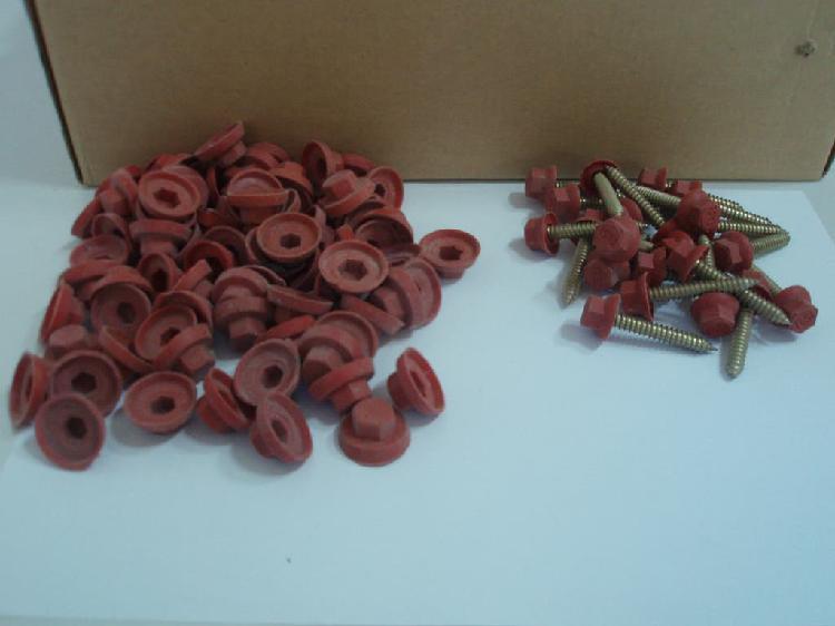Tornillos autorroscantes rojo teja