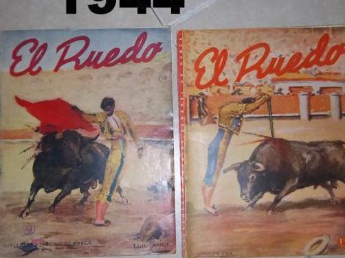 """2 revistas """"el ruedo"""" 1944"""