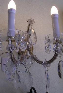 Aplique de pared, cristal de bohemia