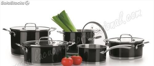 Bateria cocina doméstica negro - 5 pzs.