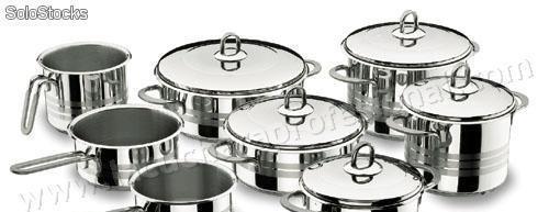 Bateria de cocina completa luxe - 8 piezas