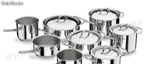 Bateria de cocina completa profesional - 8 piezas