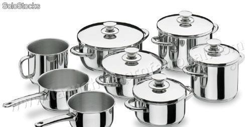 Bateria de cocina completa vitrocor - 8 piezas